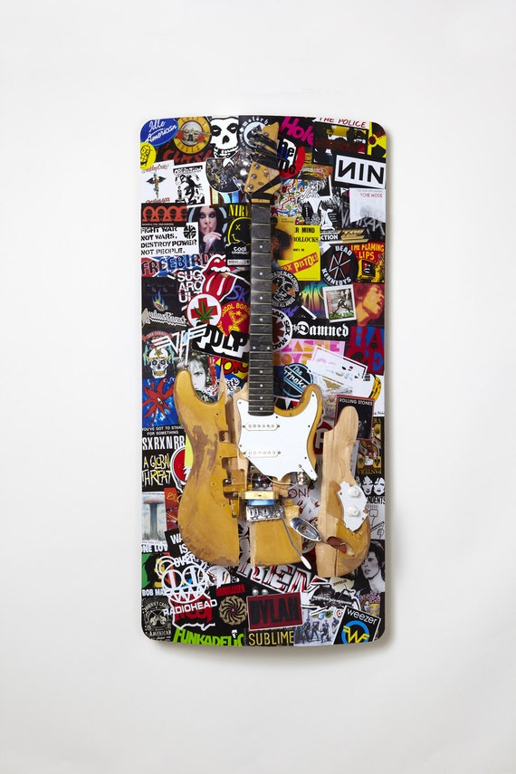 The Good, The Bad, The Ugly, The Beautiful, and The Damned Guitar Sculpture