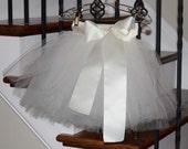 ivory flower girl tutu, flower girl dress, tulle skirt
