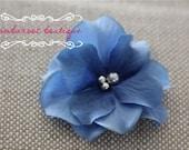 blue flower hair clip, small flower clip, small flower hair clips