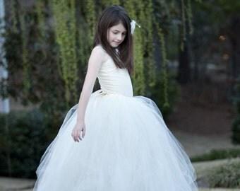 Flower Girl Dress for Wedding, Flower Girl Dresses, Sewn Tutu, Chic Tutus, Tulle