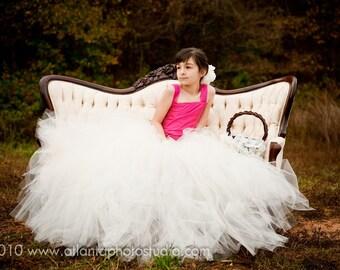 Ivory tutu skirt, flower girl tutu, flower girl dress, flower girl dresses