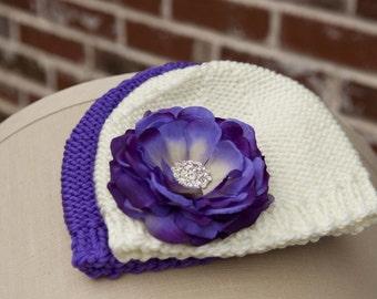 Newborn Flower Hat Set. PHOTOGRAPHY prop, baby gift, 0-6mnts.