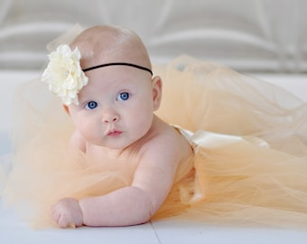 baby headbands, newborn headband, ivory