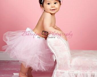 baby tutu, newborn tutu,  Pink tutu skirt, birthday tutu, flower girl dress
