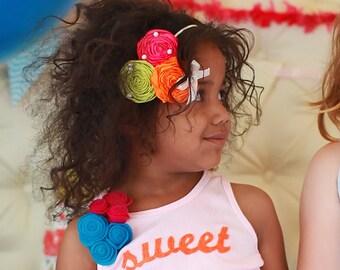 baby headband, Hot Pink headband, birthday headband, flower girl hair accessories