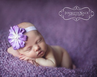 pink flower Baby headband, red flower, purple flower, Small Flower headband, newborn headband, Stretch Soft Elastic PHOTOGRAPHY PROPS