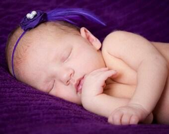 chic petite headband, Baby headband, newborn headband, small rossett, newborn fascinator, newborn photography prop