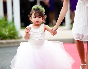 Baby tutu, Flower girl tutu, wedding tutus, Flower Girl Dress, Sewn tutus, Ivory tutu, Vintage Soft Pink tutu for flower girls