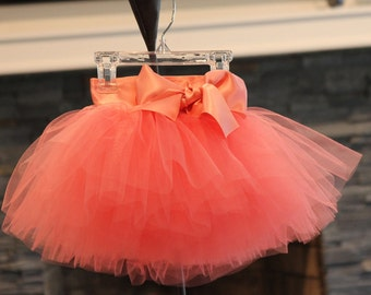 baby tutu, Peach Tutu for girls,  newborn tutu,  Sewn tutus, Tutus Chic, Newborn photography Props