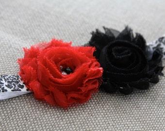 red baby headband, black infant headband, newborn headband