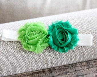 Green Baby Headband, Newborn Headband, Infant Headband, bambaroos