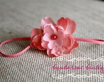 Rose pink Baby headband