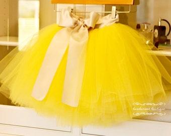 yellow tutu, flower girl dress, Silver tutu, Flower Girl skirt, tulle skirt
