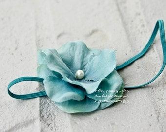 Aqua Blue headband, Newborn Headband, Baby Headband