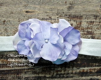 mauve baby headband, newborn headbands, small purple flower headband, infant headband,  photo prop