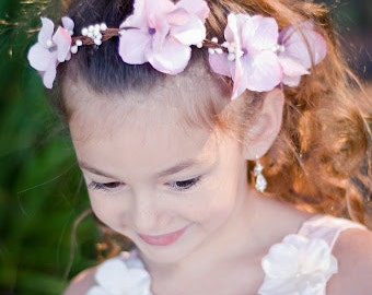 flower girl hair accessories, flower girl flower wreath, hair wreath