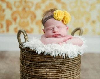 baby headband, orange headband, newborn headband