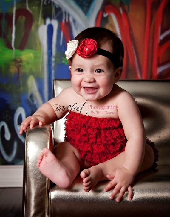 Valentines day headband, baby headband, red headband, newborn headband