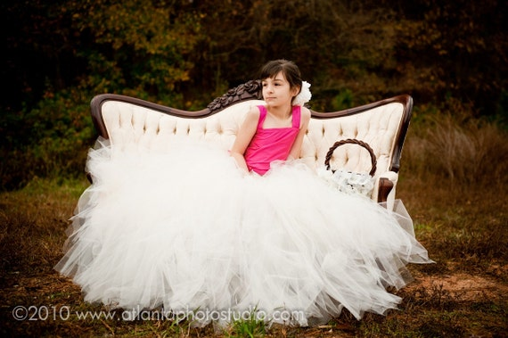 Ivory tutu skirt, flower girl tutu, flower girl dress, flower girl dresses