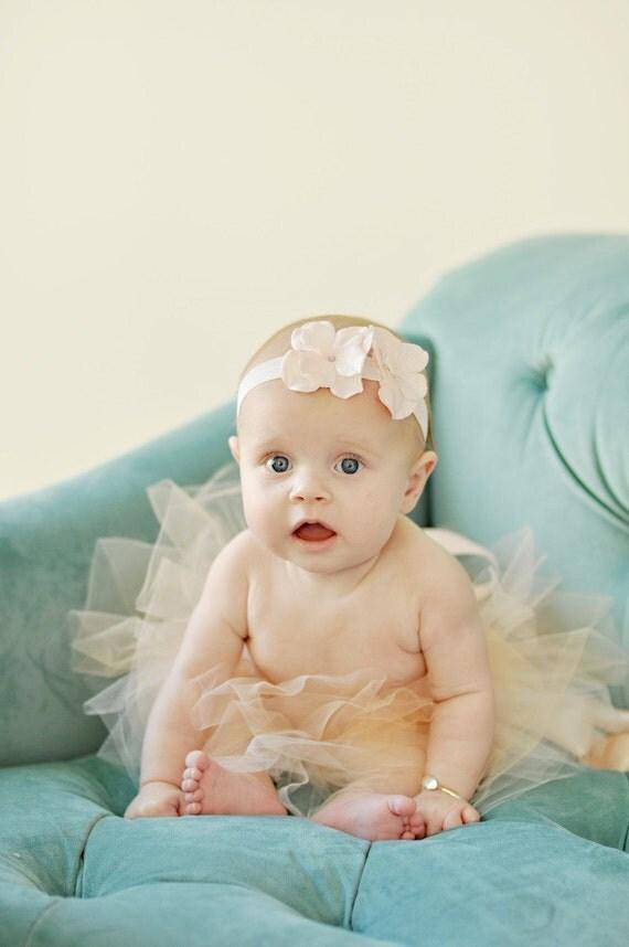 newborn girl photo prop tutu, baby tutu, baby tutus, peach tutu, tutus chic