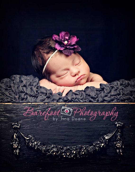 baby headband, photography props for newborns, newborn headbands, purple flower, infant, toddler, teen, adult great photo prop