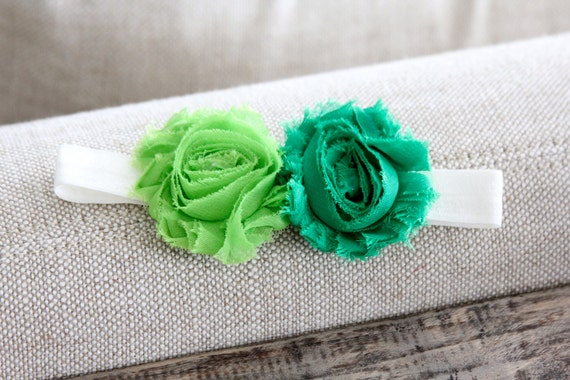 Green Baby Headband, Newborn Headband, Infant Headband, bambaroos