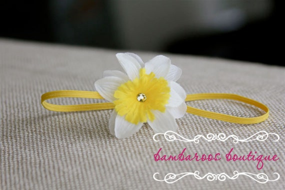 baby headbands, newborn headbands, small yellow flower headband, infant headband, toddler headband, photo prop