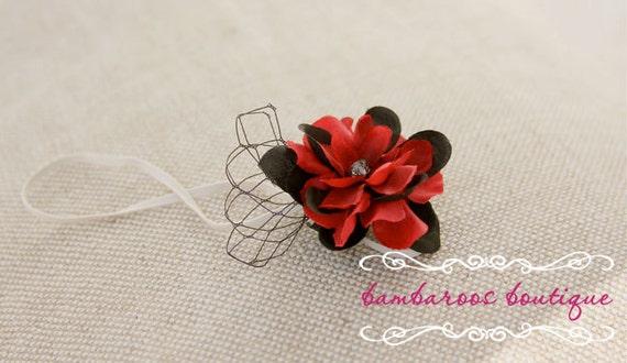 red baby headband, baby headband, black headband