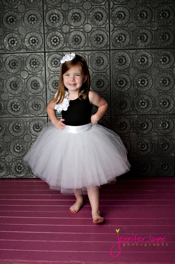 Items similar to Flower girl dress, tulle flower girl ...
