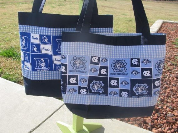unc or duke tote or diaper bag lots of pockets by jeanabeanas. Black Bedroom Furniture Sets. Home Design Ideas