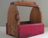 Vintage Wooden Tool Box