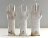 lll RESERVED lll 3 Vintage Porcelain Glove Molds