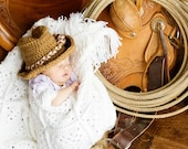 Amazingly soft crochet Cowboy Hat for Infants Babies Children Photo Props Cowgirls Cowboy,