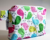 Snack Bag: Eco-Friendly with Gussett - Large - Pastel Birds - Ann Kelle Birds in Spring