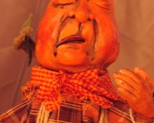 Grumpy pumpkin man..........