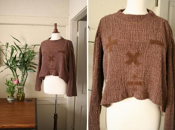 vintage MATH symbols baggy sweater