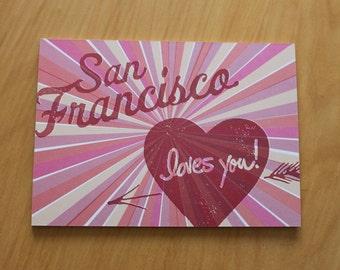 set of 20 San Francisco Loves You postcards