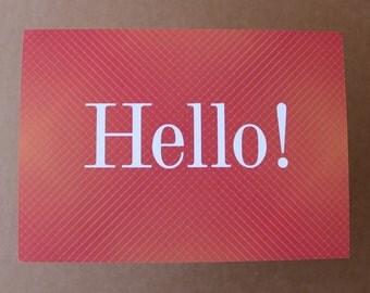 set of 20 Hello postcards