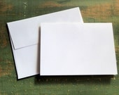 """100 A2 Folded Cards & Envelopes: 4 1/4 x 5 1/2"""" (108 x 140mm) folded card with envelope, bright white, natural white or ivory, blank cards"""
