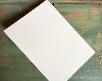 """50 A1 Flat Cards: Recycled 3 1/2 x 4 7/8"""" (89 x 124 mm) flat cards, white, bright white, natural white or ivory (80-110lb), cards only"""