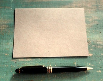 """50 A2 Kraft Folded Cards: Kraft Brown Note Cards Only, Eco-Friendly & Recycled, 4 1/4"""" x 5 1/2"""", 65lb, 80lb, 100lb, 105lb or 146lb"""
