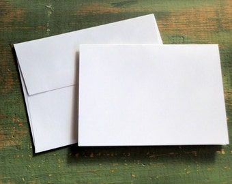"100 A2 Folded Cards & Envelopes: 4 1/4 x 5 1/2"" (108x140mm) folded card with envelope, white, bright white, natural white, ivory (80-110lb)"