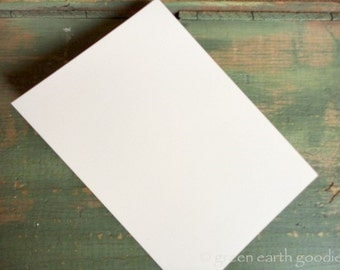 """25 A6 Flat Cards: Recycled 4 5/8 x 6 1/4"""" (117x159mm) or 4x6"""" postcard, white, bright white, natural white or ivory (80-110lb), cards only"""