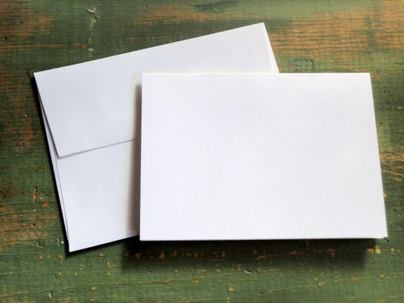 100 A2 Folded Cards & Envelopes: 4 1/4 x 5 1/2