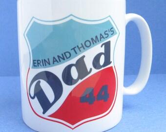 Dad Mug Personalised With Kids Names