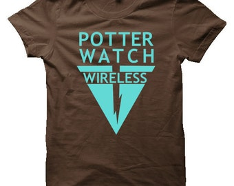 Potterwatch Wireless Harry Potter T-Shirt (Mens, Ladies) - The Deathly Hallows Pirate Radio Show T-Shirt