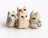4 Tiny Owl Miniatures