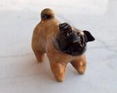 Pug Handmade Ceramic Figurine OOAK