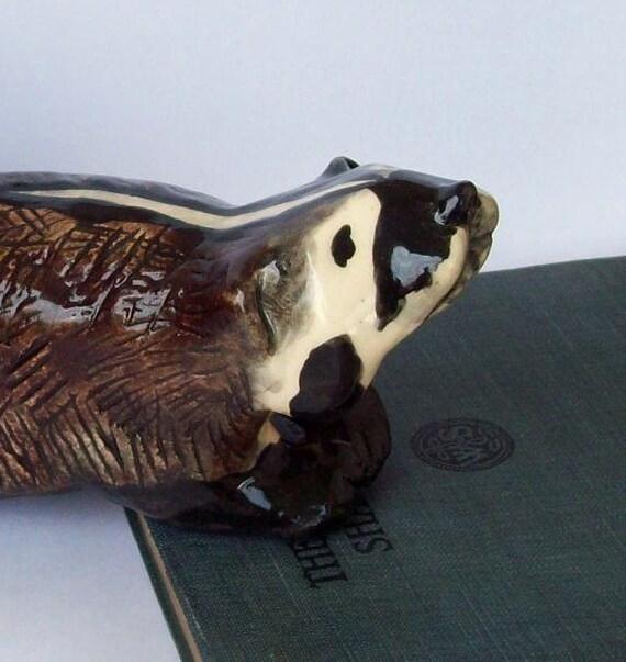American Badger Sculpture