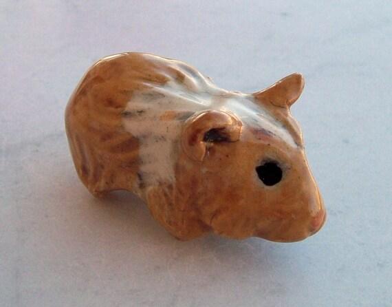 Hamster Miniature Handmade Ceramic Figurine